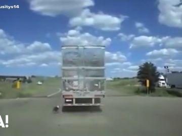 Momentos antes de que el conductor fuera alertado