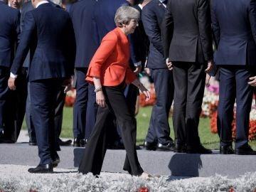 Theresa May en la cumbre de líderes de la UE