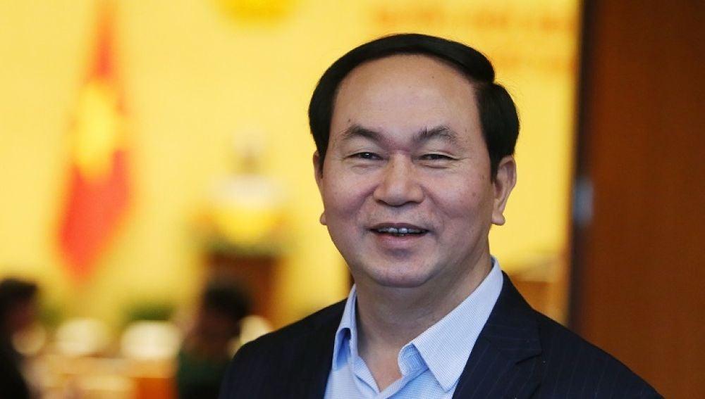 Fotografía de archivo del presidente de Vietnam, Tran Dai Quang