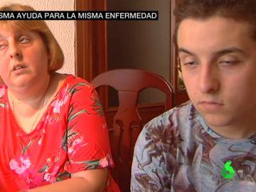 Sandra Yopis y su hijo Fran