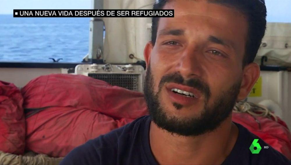 Hasán Alí, rescatista del Aquarius