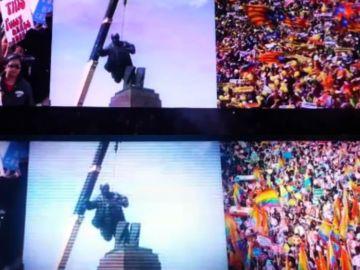 U2 sustituye las esteladas de su concierto en Berlín por la manifestación del Orgullo para su arranque de concierto en Madrid