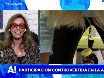 El análisis de María Estévez de la participación en televisión de una mujer capaz de levantar objetos con la vagina: