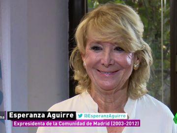 """Esperanza Aguirre, """"ilusionada"""" con el nuevo PP: """"El PP de Casado es el PP de los principios del centro-derecha en el mundo"""""""