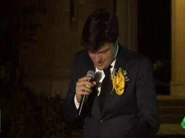 """El emotivo discurso del novio de Celia Barquín: """"Soñábamos con la música de la boda y con los nombres de nuestros hijos"""""""