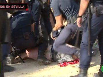 Así fue la actuación de la Policía contra los ultras del Standard de Lieja en Sevilla