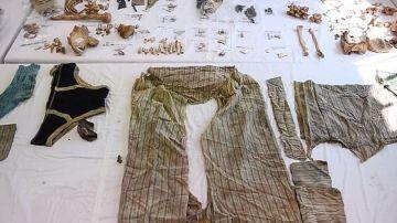 La ropa encontrada junto al cadáver de Ahmet Hergune