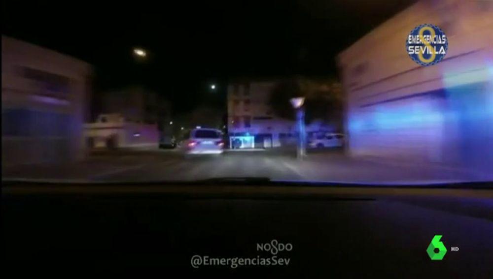 Imagen de la persecución de un coche en Sevilla