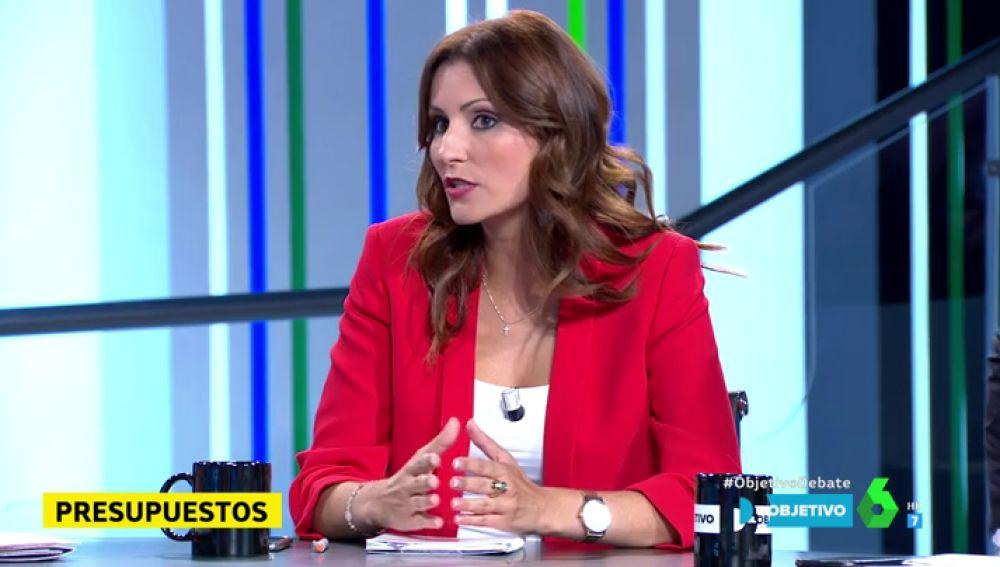 """Lorena Roldán, de Ciudadanos: """"Sánchez no tiene escrúpulos, el PSOE ha intentado sacar adelante los Presupuestos con un fraude de ley"""""""