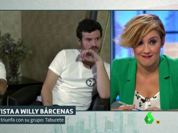 "Cristina Pardo, a Willy Bárcenas: ""Agradezco hacer esta entrevista sentada porque habitualmente iba correteando detrás de tu padre"""