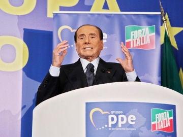 El presidente de Forza Italia Silvio Berlusconi