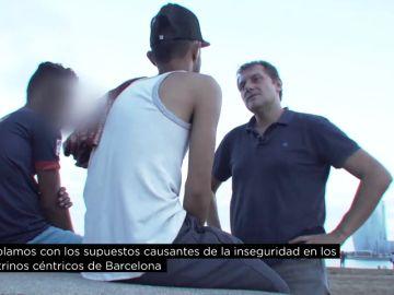 Jóvenes acusados de robar en Barcelona