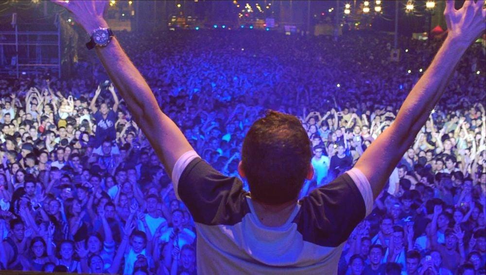 Brian Cross en las fiestas de La Mercè de Barcelona
