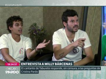 Antón Carreño, Willy Bárcenas y Cristina Pardo