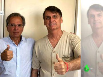 Imagen de Bolsonaro al salir de la UCI