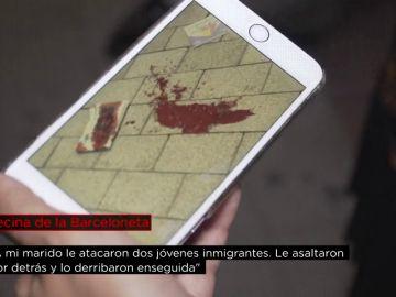 """La mujer de un anciano al que le robaron el reloj en Barcelona: """"Le golpearon en la cabeza y cayó al suelo"""""""