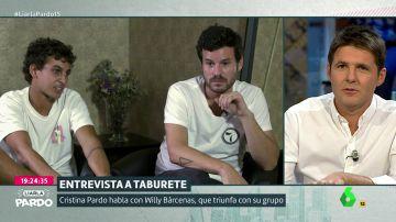 Antón Carreño y Willy Bárcenas, Taburete