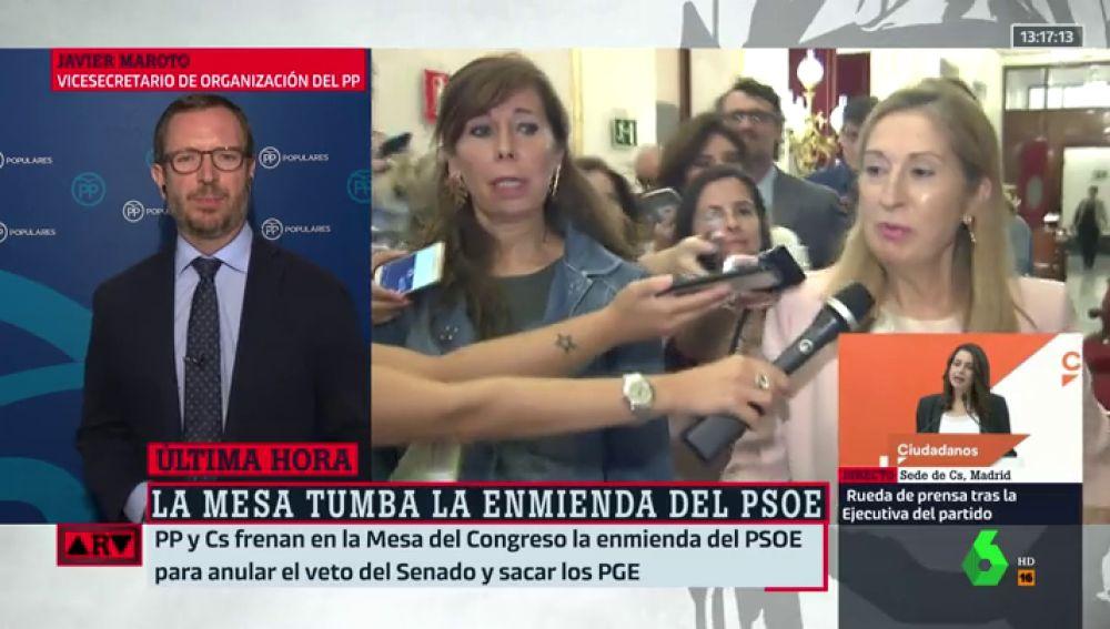 """Javier Maroto, tras tumbar la enmienda del PSOE sobre los Presupuestos: """"España necesita elecciones generales ya"""""""