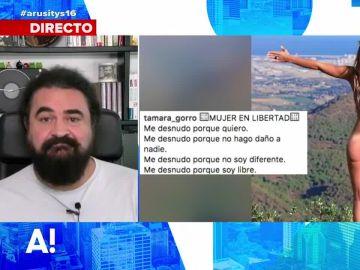 Esta es la relación que encuentra El Sevilla entre el desnudo reivindicativo de Tamara Gorro y el cambio climático