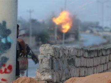 Imagen de archivo de combates en Libia