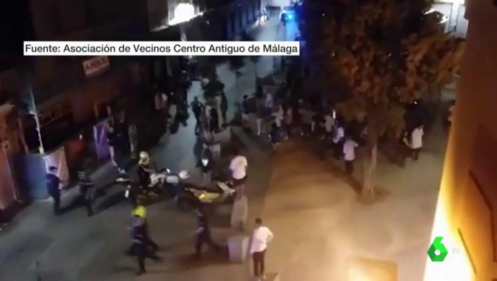 Una pelea multitudinaria se salda con cinco detenidos y tres policías heridos en Málaga
