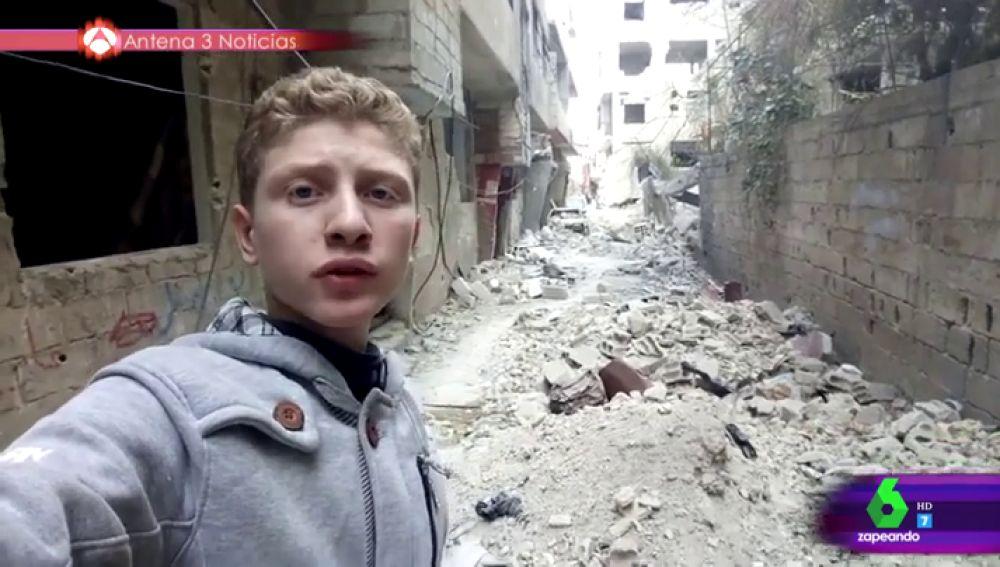 Mohamed Najem documenta la guerra en Siria con su móvil