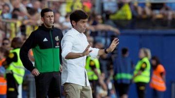 Marcelino, durante el partido contra el Villarreal