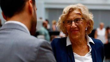 La alcaldesa de Madrid, Manuela Carmena, reaparece tras su caída