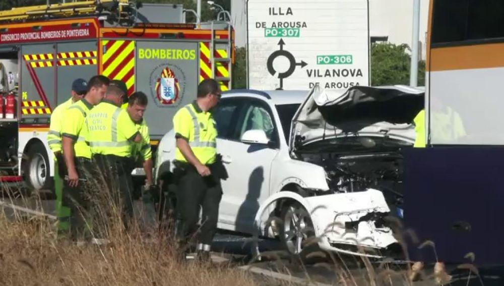 Accidente de tráfico en Vilanova de Arousa