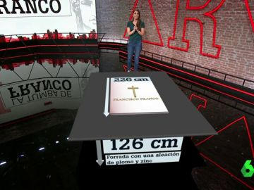La tumba del dictador, al detalle en el plató de Al Rojo Vivo