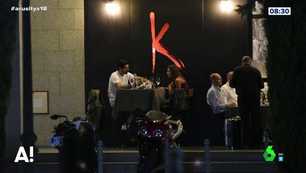 Miguel Ángel Muñoz y Ana Guerra cenando en Madrid