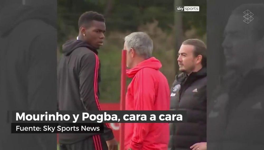 Miradas que matan: Mourinho y Pogba, cara a cara en el entrenamiento tras el polémico vídeo del francés