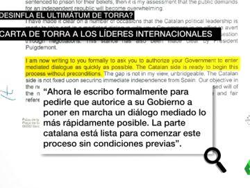 Quim Torra envió una carta a Trump y al papa pidiendo que medien por el referéndum