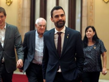Roger Torrent en el Parlament