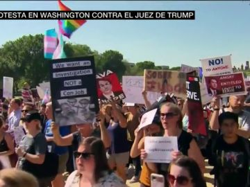 Multitudinarias protestas en Washington contra la nominación del juez Kavanaugh al Senado