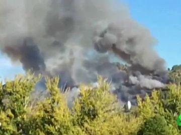 Imagen de un incendio declarado en Galicia