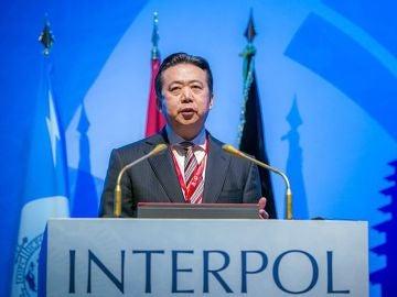 El presidente de la Interpol, el chino Hongwei Meng