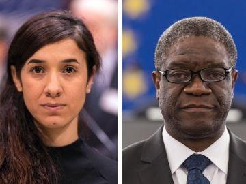 La activista por los derechos humanos iraquí Yazidi Kurdish y el médico congoleño Denis Mukwege