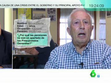Pensionistas preguntan a Gonzalo Bernardos sobre pensiones