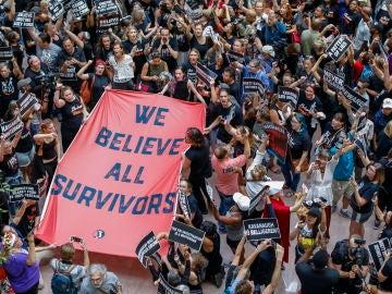 Protesta contra el juez Kavanaugh en EEUU
