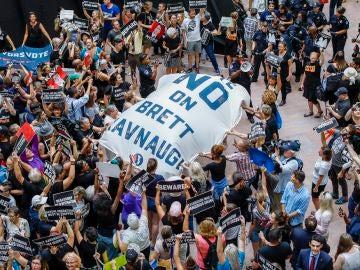 Imagen de las protestas contra el juez Brett Kavanaugh