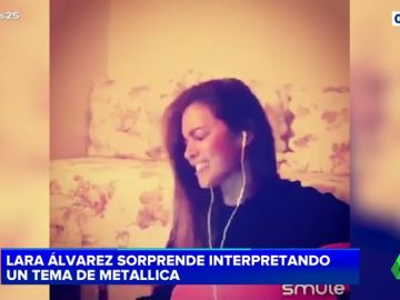 Una rockera Lara Álvarez sorprende a sus fans interpretando un tema muy cañero
