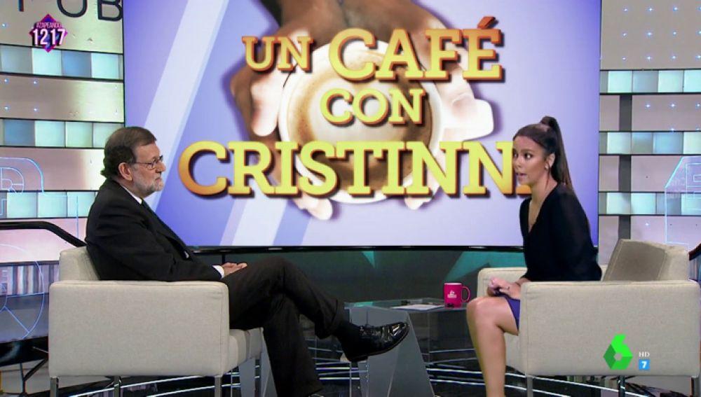 """Cristina Pedroche """"entrevista en exclusiva"""" a Mariano Rajoy """"¿Me la concede a mí porque cree que soy la mejor periodista de España?"""""""