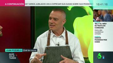 El chef Juan Pozuelo en Más Vale Tarde