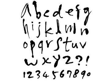 Letras escritas a mano