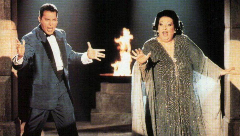 Imagen de archivo de Freddie Mercury y Montserrat Caballé en Barcelona