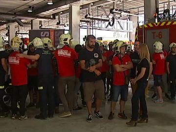 Concentración de bomberos