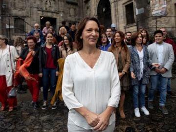 Bescansa presenta su candidatura en Santiago de Compostela