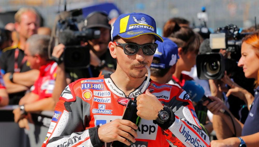 Jorge Lorenzo, en el GP de Aragón
