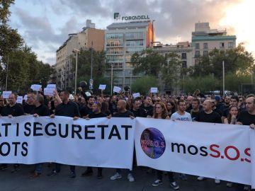Manifestación de los Mossos